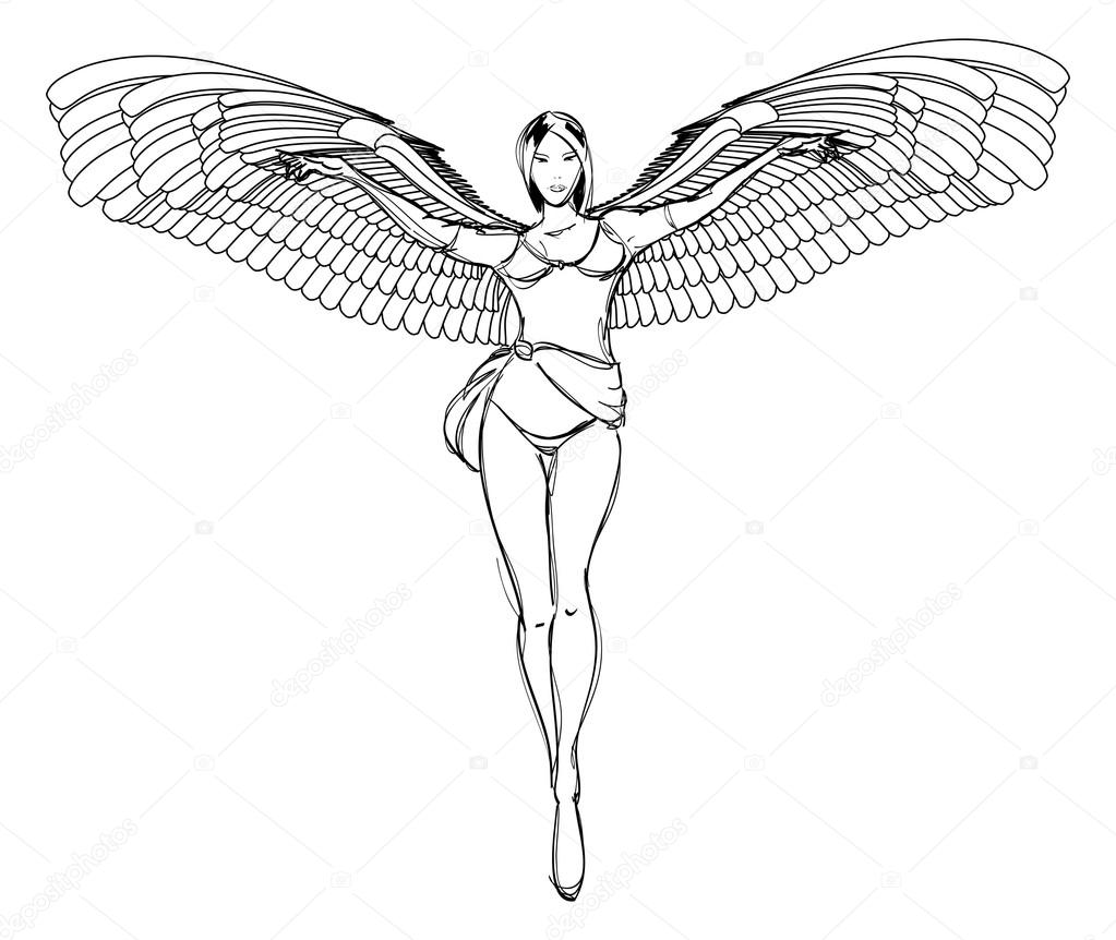 1023x862 Sketch. Fashion Girl. Hand Drawn Fashion Model Stock Vector