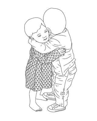 320x399 Small Children Hugging