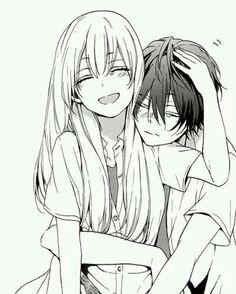 236x294 Anime, Boy, Couple, Cry, Girl, Hug, Love, Manga, Otaku Cute
