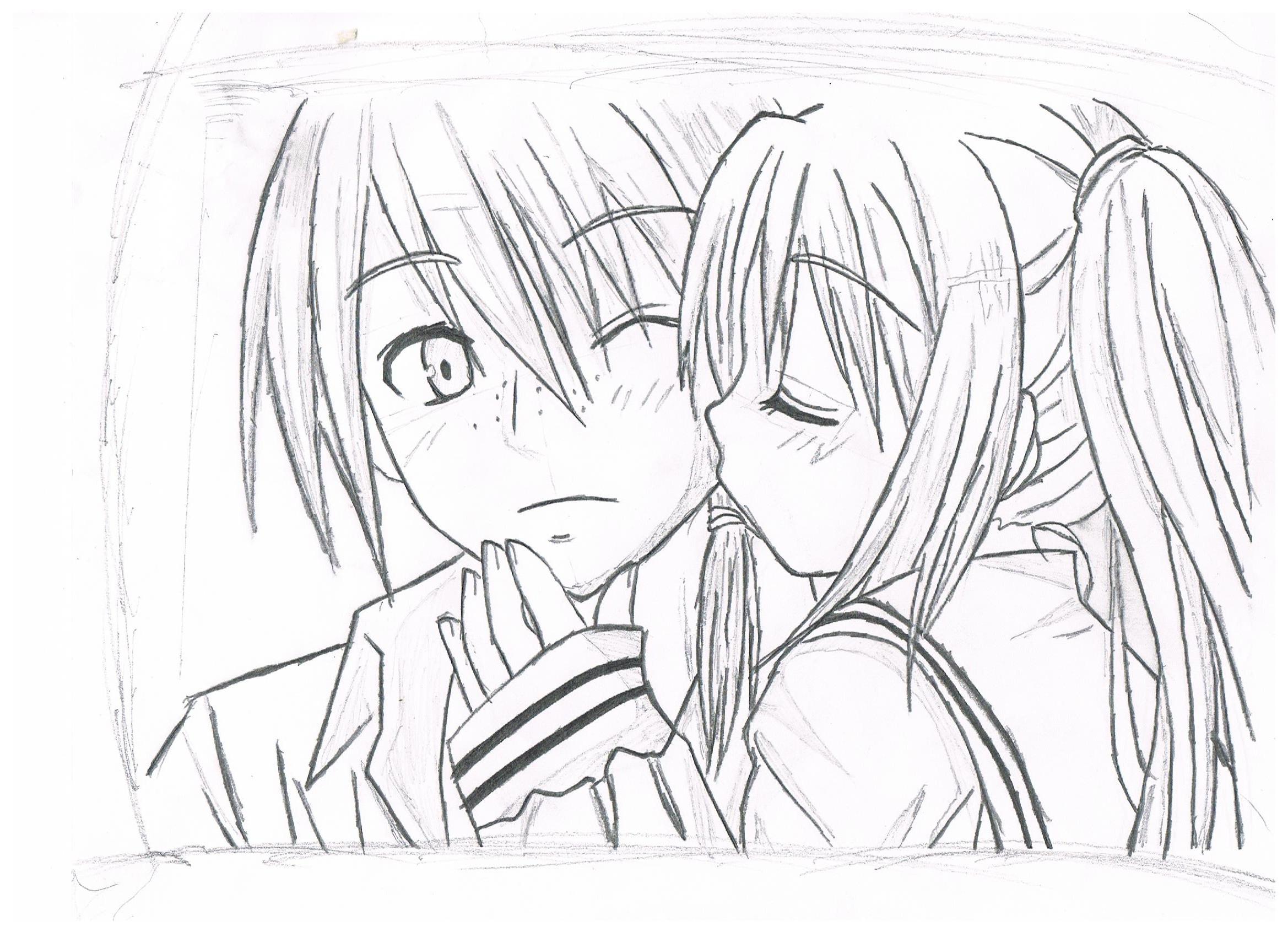 2338x1700 Anime Boy And Girl Drawing A Boy Girl Anime For Sketching Pencil