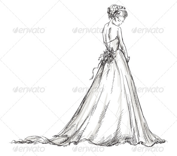 590x521 drawn wedding dress prom dress