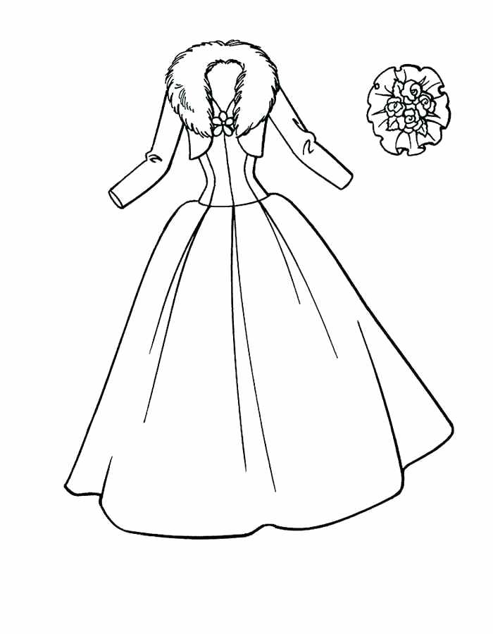 700x900 Coloring Pages Dresses Girls Dress Up