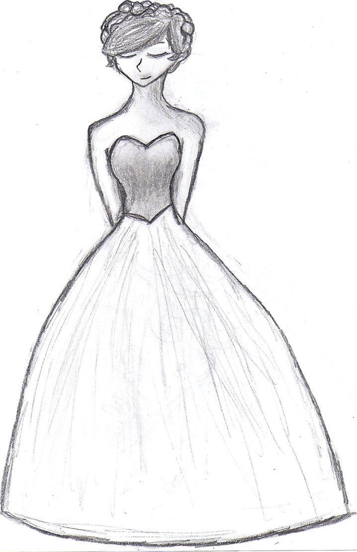 718x1111 Easy Drawings Girl Dress Dress Images