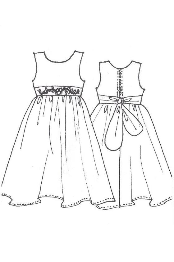 560x840 Flowergirl Dress With Chiffon Bow Richard Designs