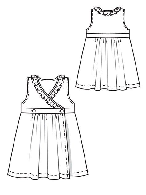 475x633 Girl's Wrap Dress 052012