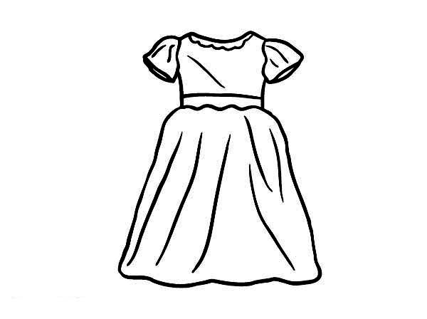 600x448 Party Dress For Little Girl Coloring Page Coloring Sun