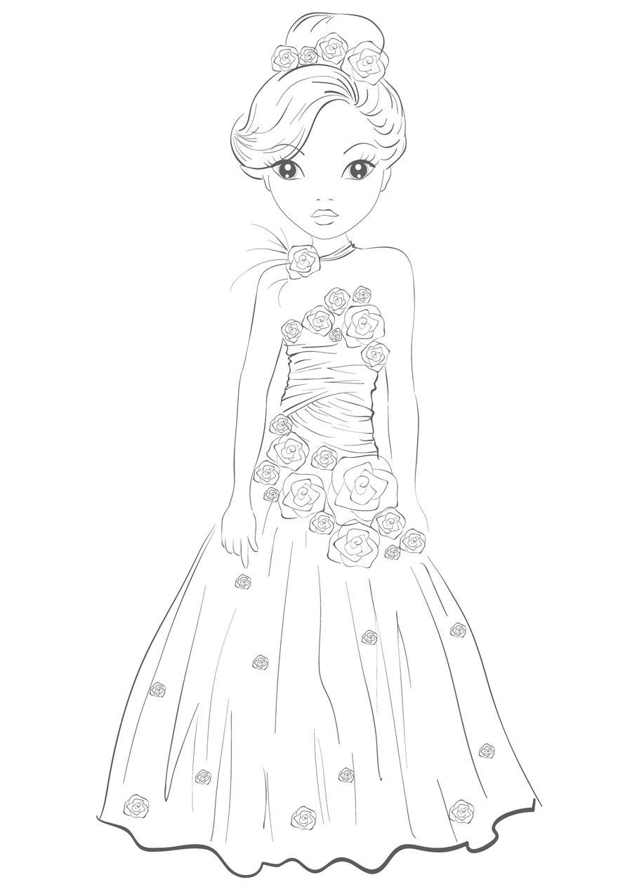 900x1273 Princess Dress By Funandcake