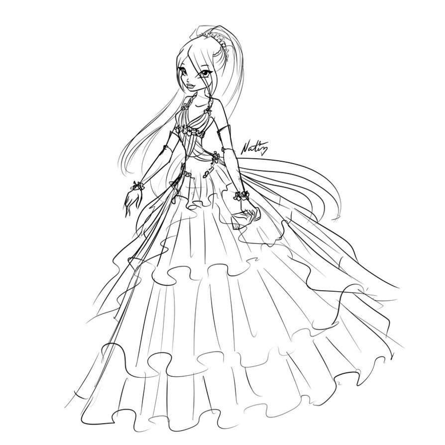 Girl In Dress Drawing at GetDrawings.com | Free for personal use ...
