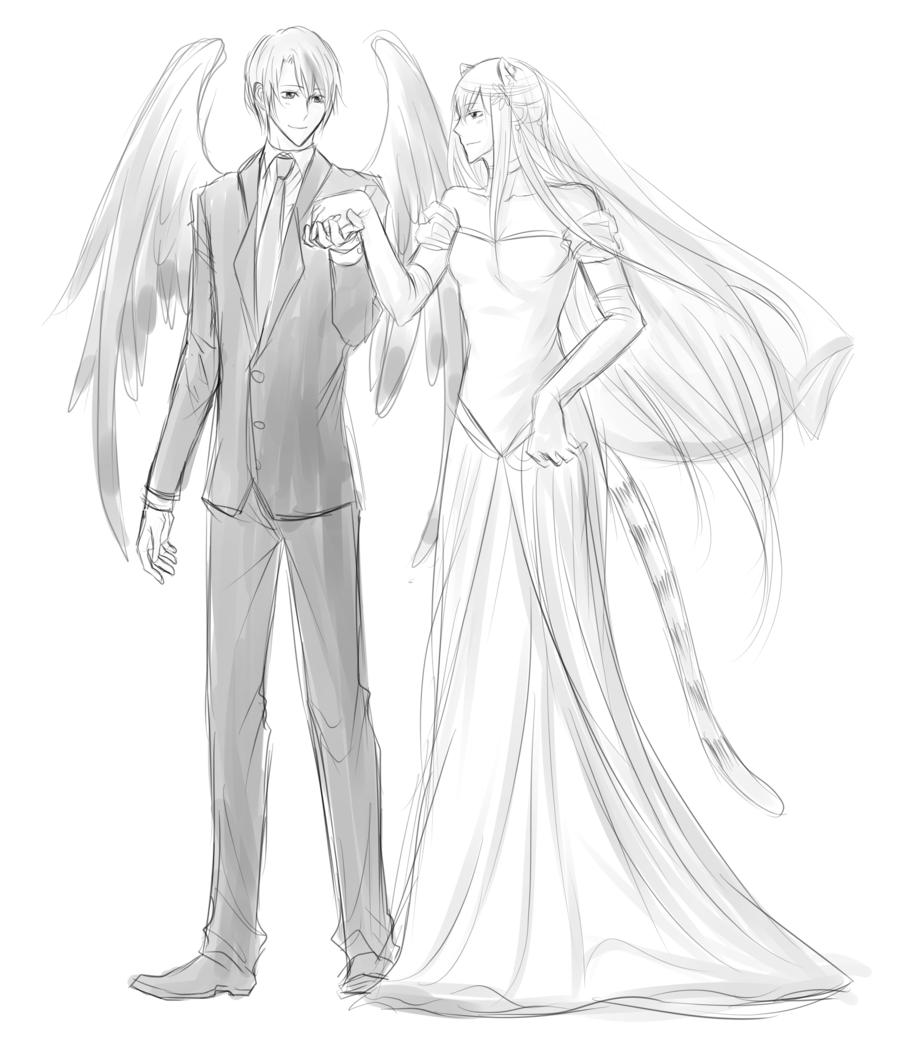 900x1039 Volsa Wedding Sketch By Minghii