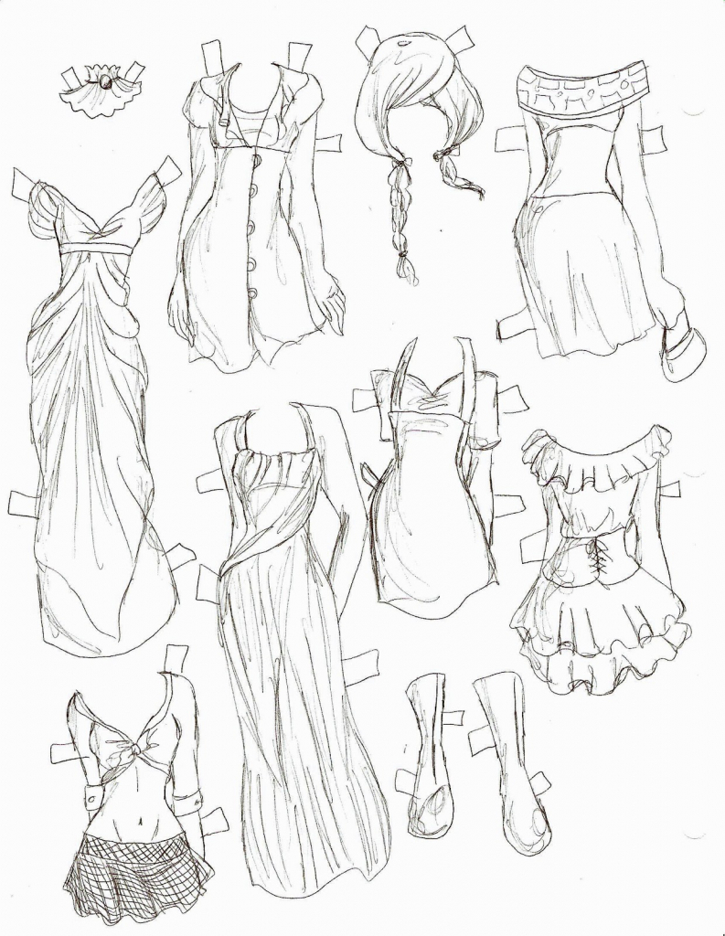 793x1024 Drawing Anime Girl Dress Animes Girls Clothes Draw Best Photos