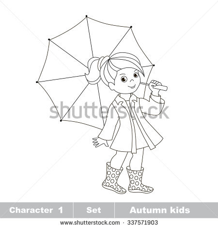 450x470 Gallery Drawing Of Girl With Umbrella,