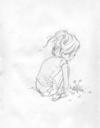 351x450 Kurt Halsey Lonely Girl Sketch Art I Lt3 Kurt