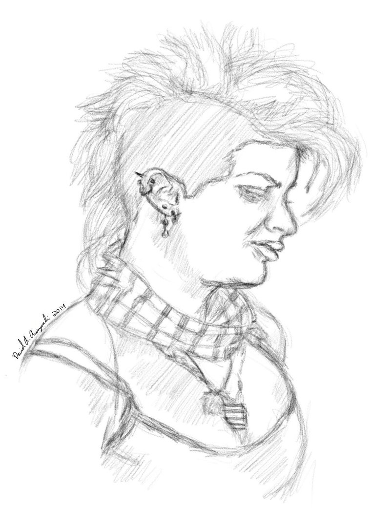 762x1048 Punk Girl Drawing By Abaxvahl