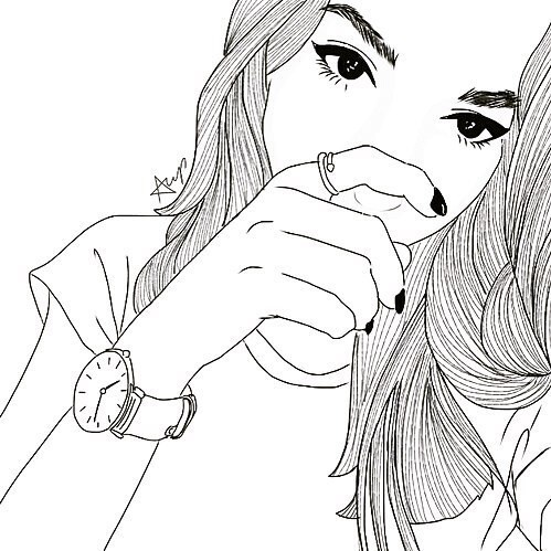 499x499 Girl, Outline, And Drawing Image Tumblr Outlines