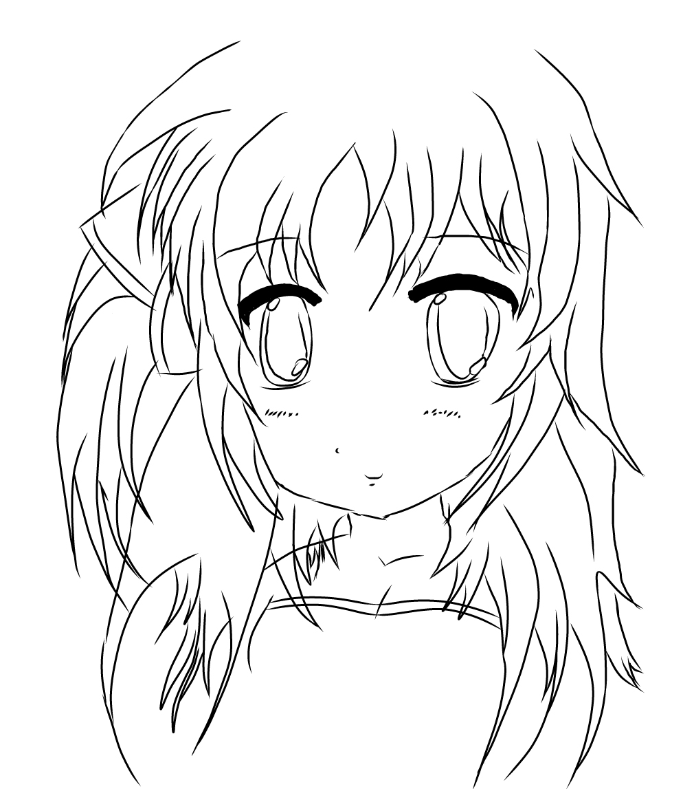 1010x1147 Anime Girl Outline By Coolwhacka