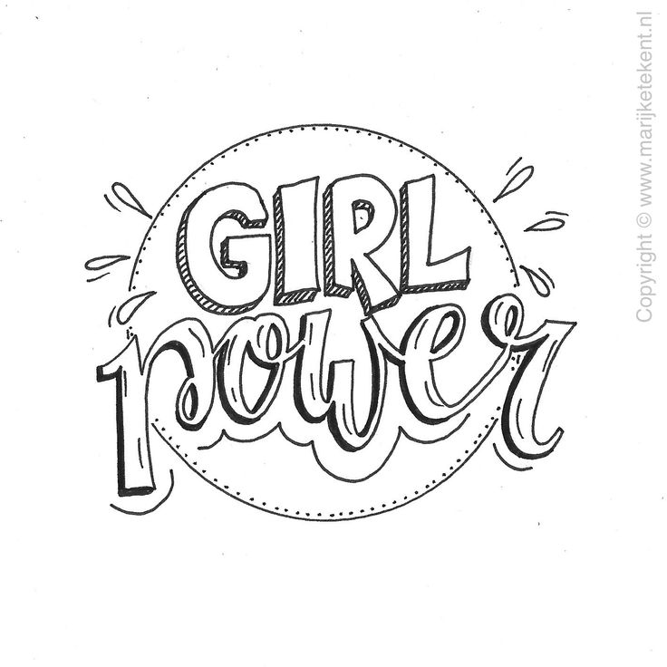 Girl Power Drawing