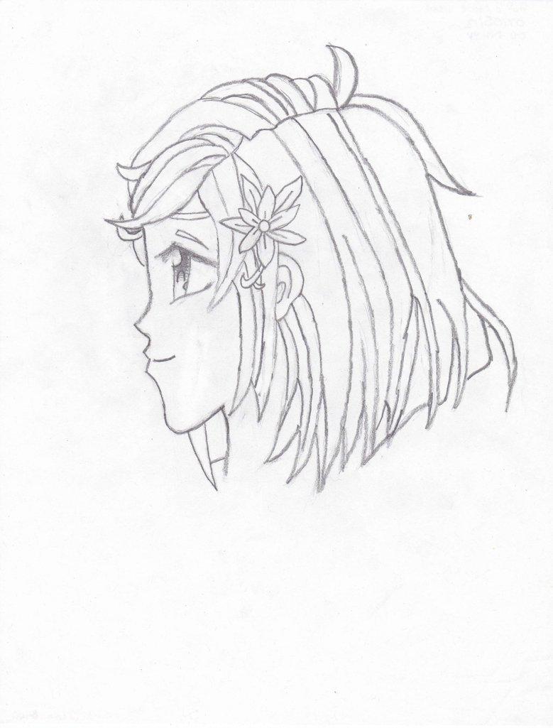779x1025 Manga Girl Profile View By Hetaliasoulalchemist
