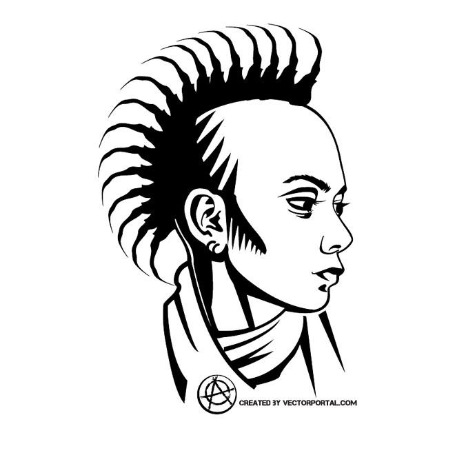 660x660 Punk Girl Vector Profile