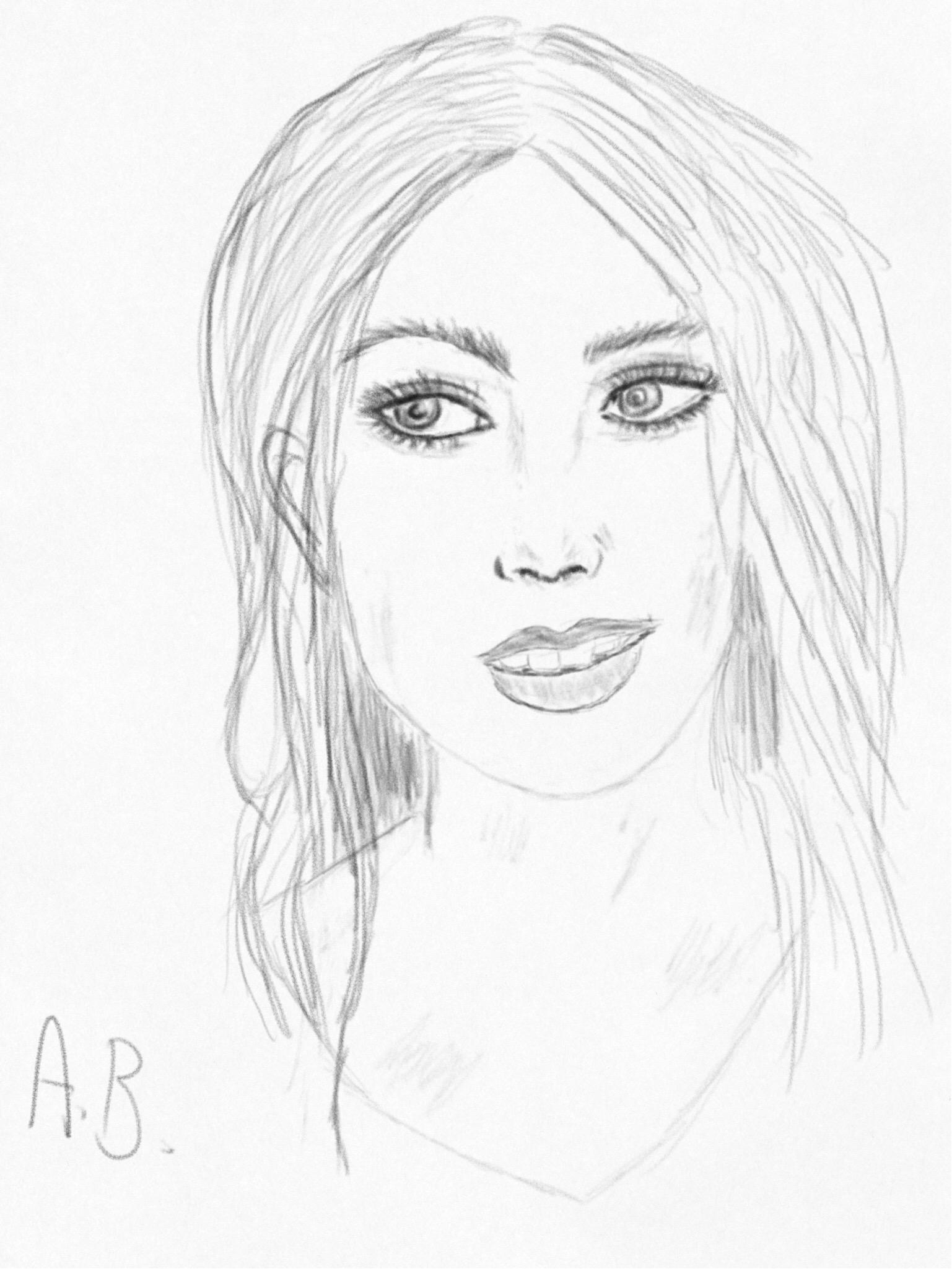 1537x2049 My Drawing Pretty Girl Cute Profile Digitaldrawing