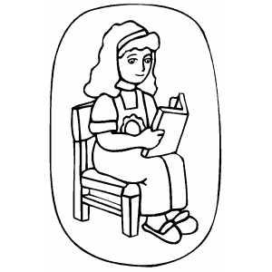 300x300 Girl Reading Book Sun. School Visuals Girl Reading