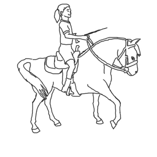 504x504 Fantastic Coloring Pages Girl Riding Horse Contemporary