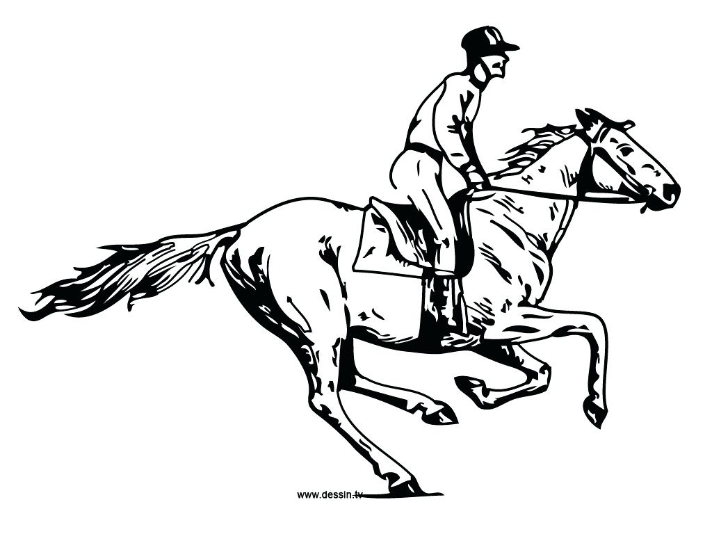 1024x768 Coloring Horse And Rider Coloring Pages