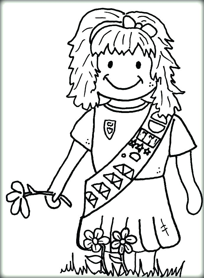 691x940 Coloring Pages Girl Printable