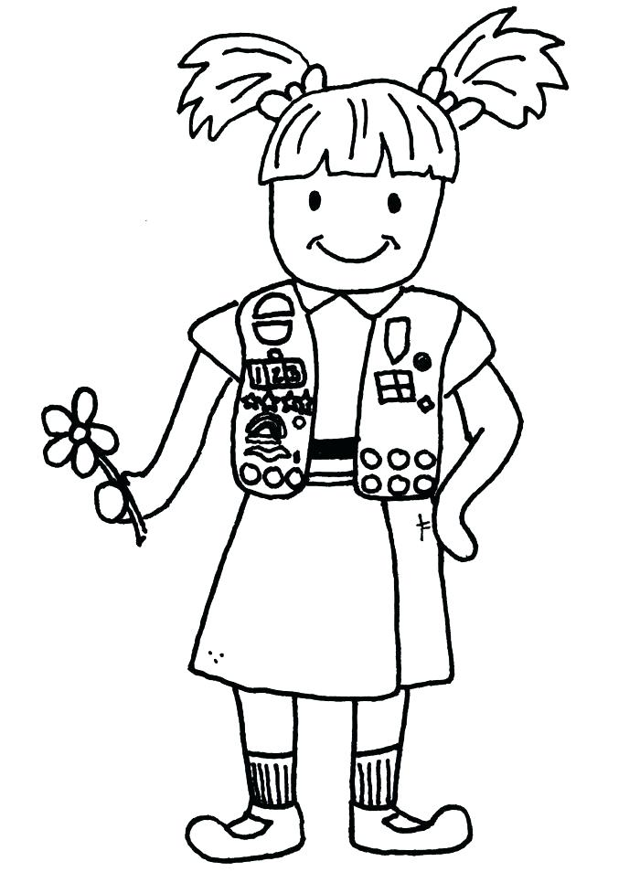 Girl Scout Cookie Drawing At Getdrawings Free For Personal Use