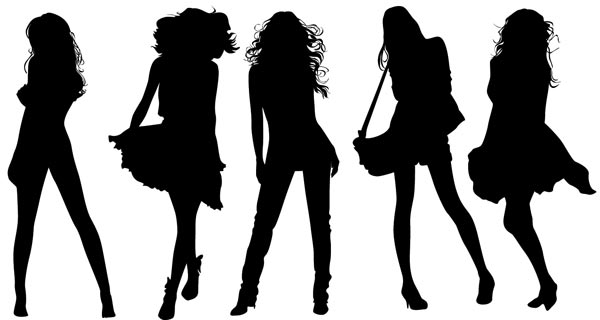 600x320 Girl Silhouette Vectors