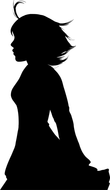 465x800 Silhouette Girl By Yosha