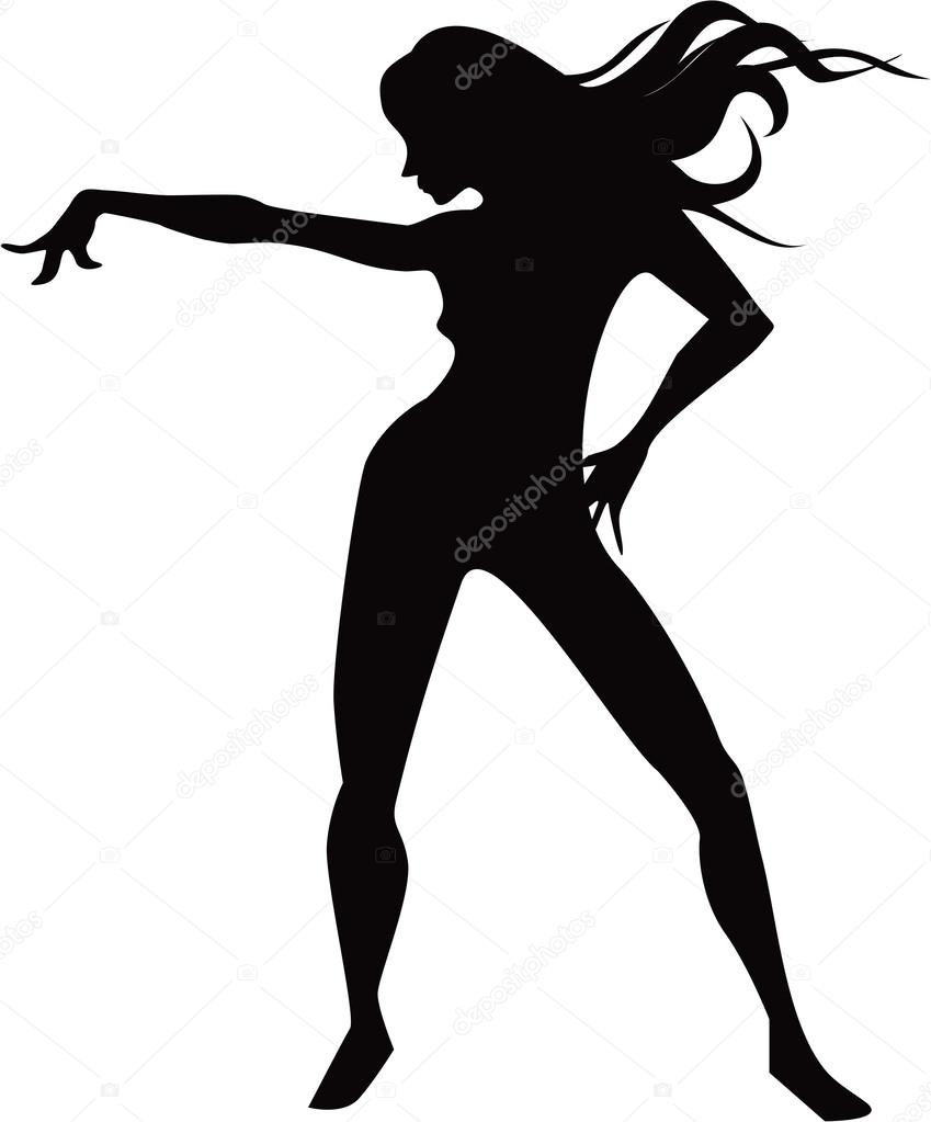 849x1023 Dancing Girl Silhouette
