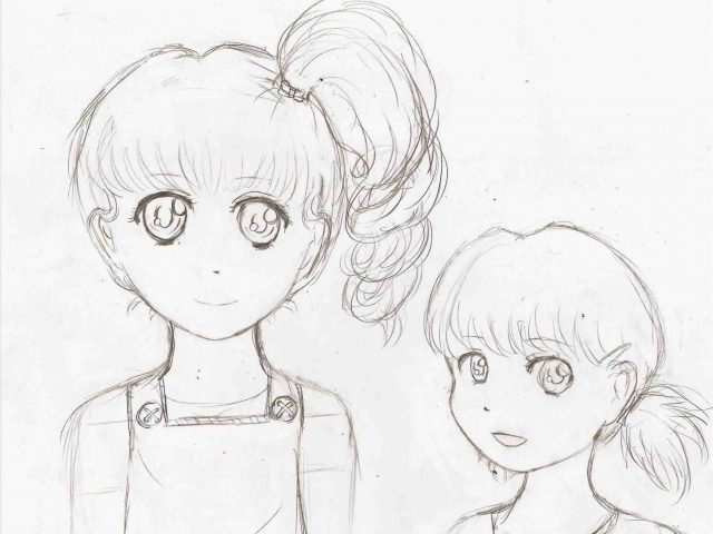 640x480 The Images Collection Of For Girls Step By Step Sketch Drawn Manga