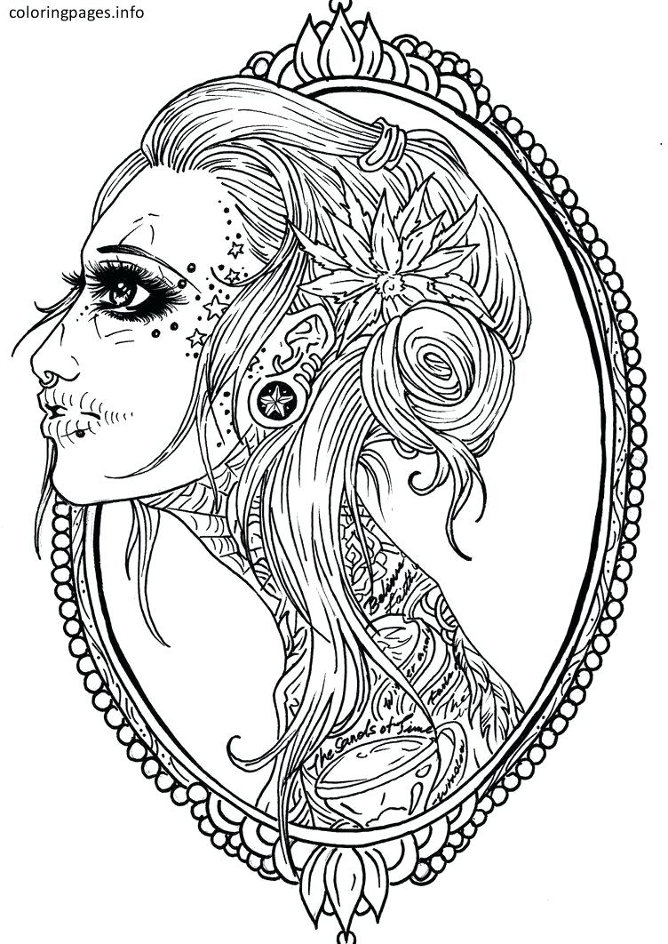 Girl Skull Drawing at GetDrawings.com   Free for personal use Girl ...