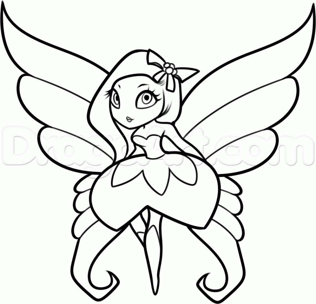 1024x986 Fairy Sketch Step By Step 10. How To Draw A Fantasy Fairy, Fantasy