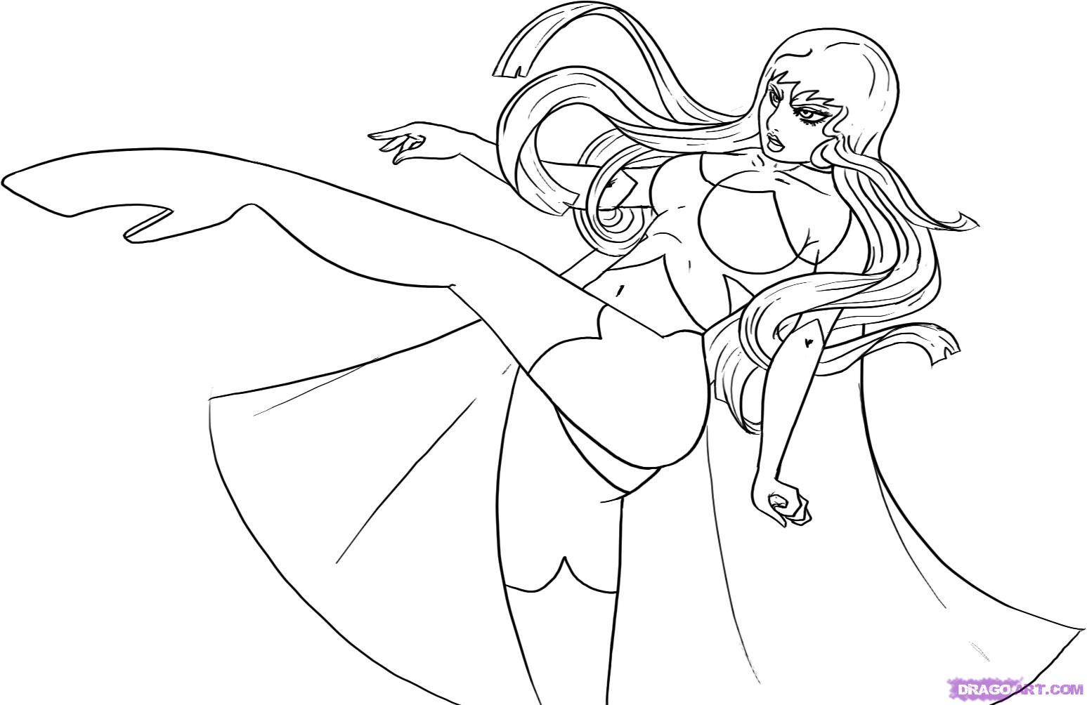 coloring pages superheroes womens costumes - photo#3