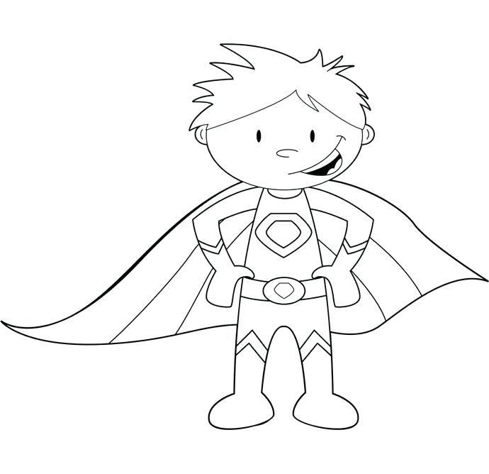 690x668 Superhero Coloring Pages Superhero Coloring Page Superhero