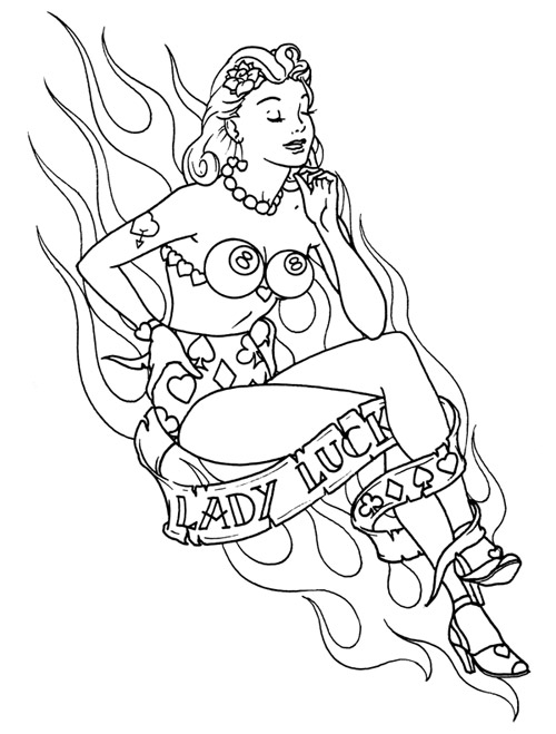 Girl Tattoo Drawing