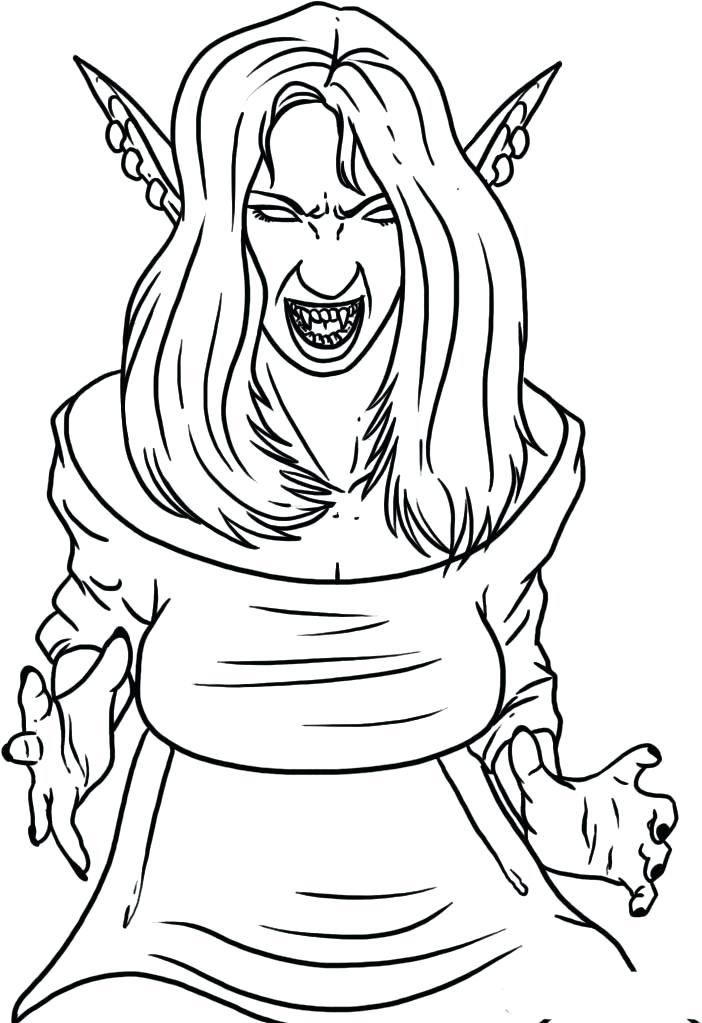 702x1023 Vampire Coloring Pages Also Girl Vampire Coloring Pages Vampire