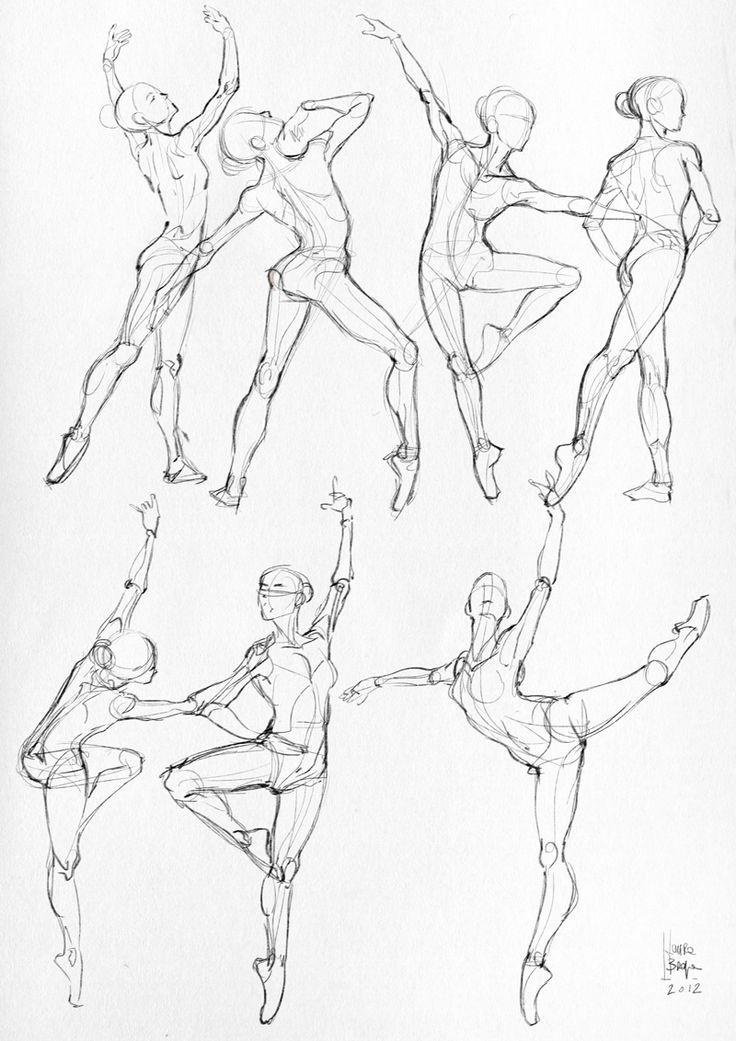 736x1041 Drawn Ballerine Full Body