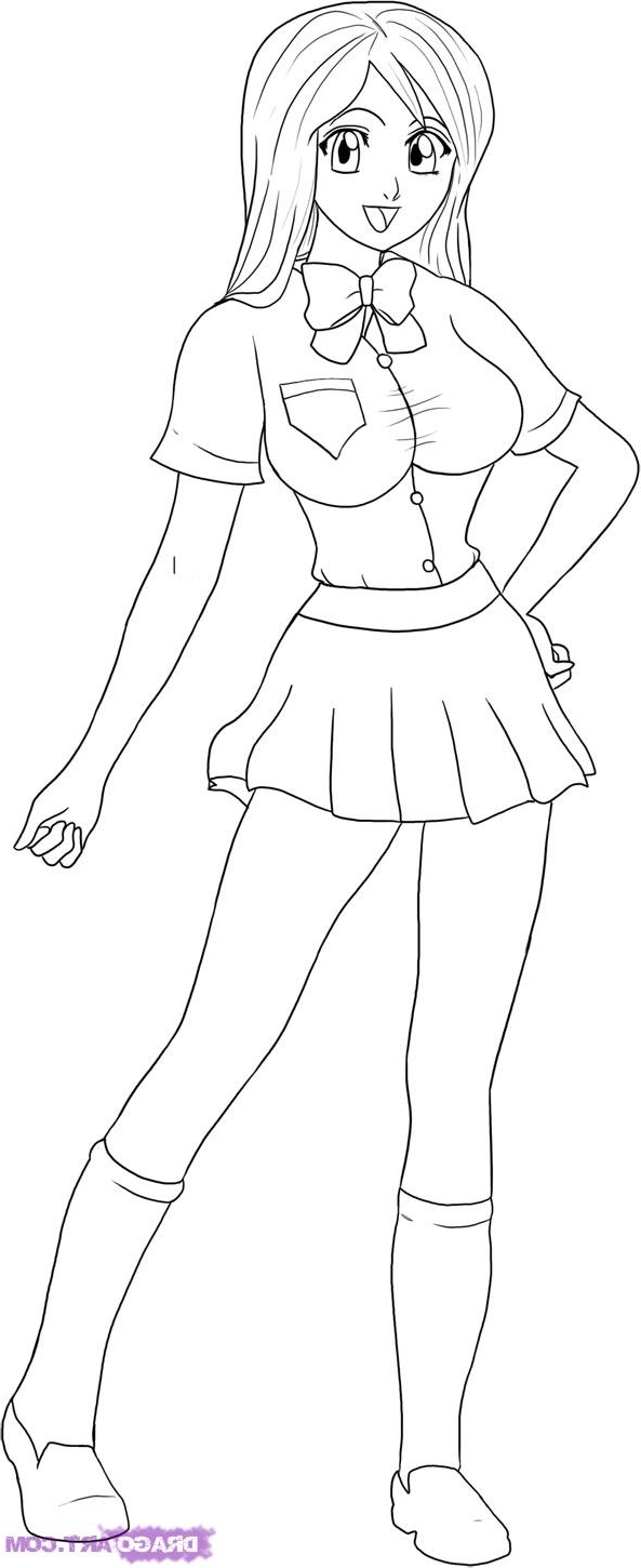 593x1450 Girl Drawing Whole Body How To Draw Orihime Step Step Bleach