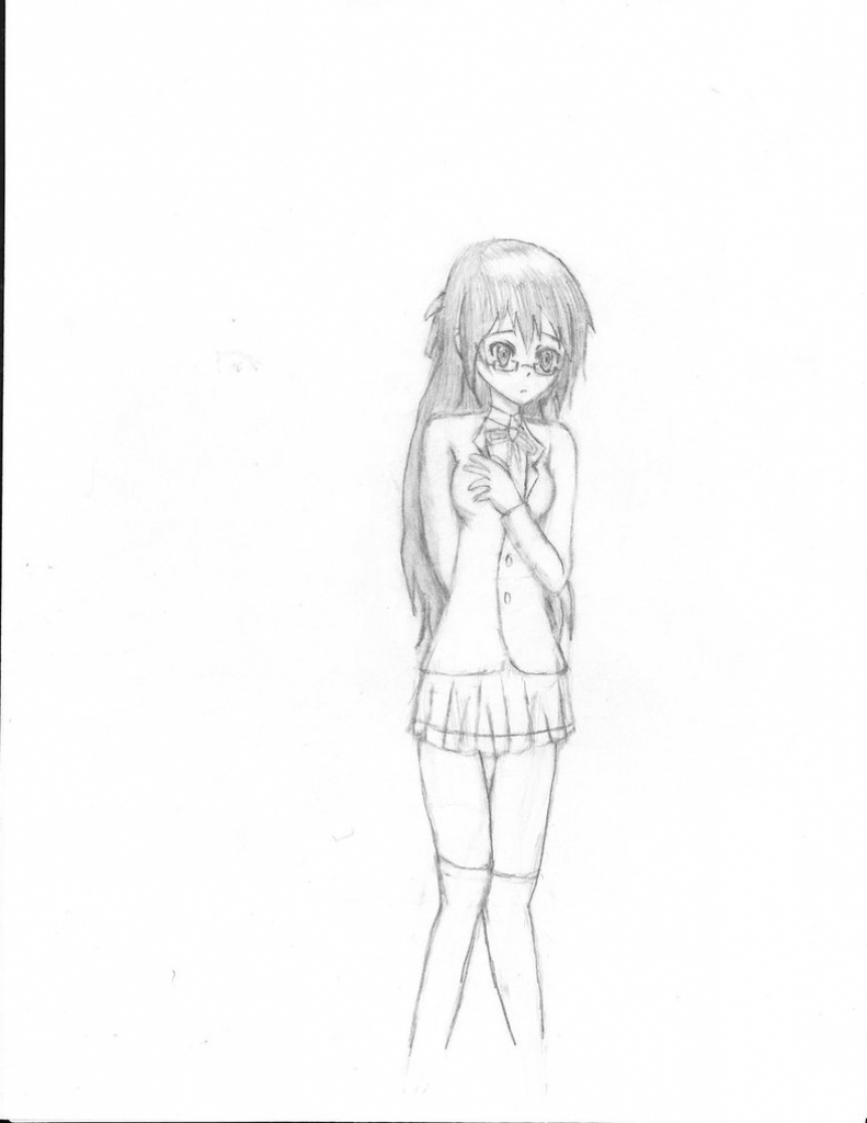 791x1024 Sketch Of Girl With Full Body Drawing Pictures Full Girl Photo