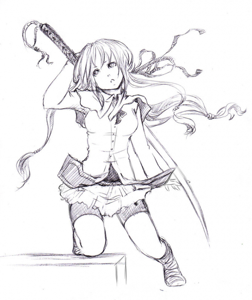 861x1024 anime drawing easy whole body