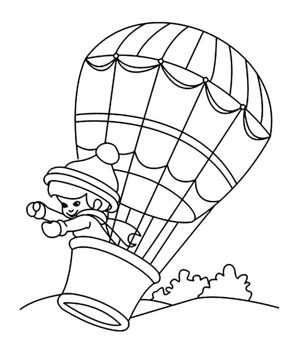 600x733 Hot Air Balloon Coloring Pages Hot Air Balloons Hot Air Balloon