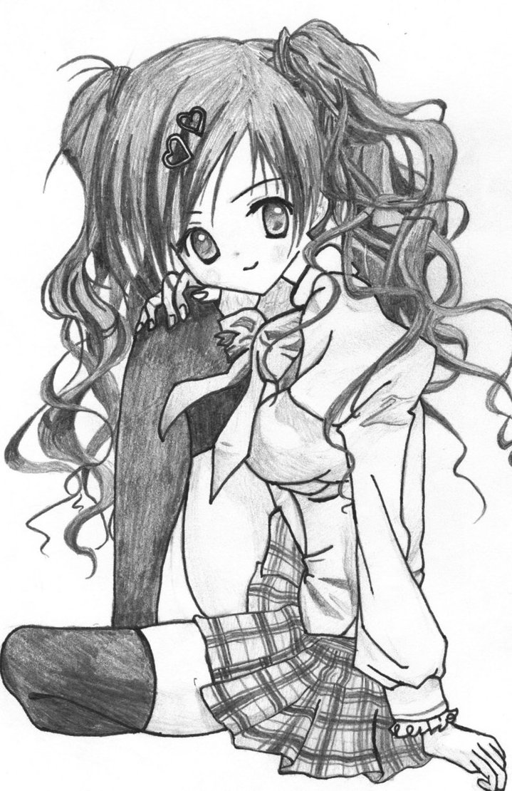 719x1110 How Draw Cartoon Girl With Curly Hair Curl Stuff