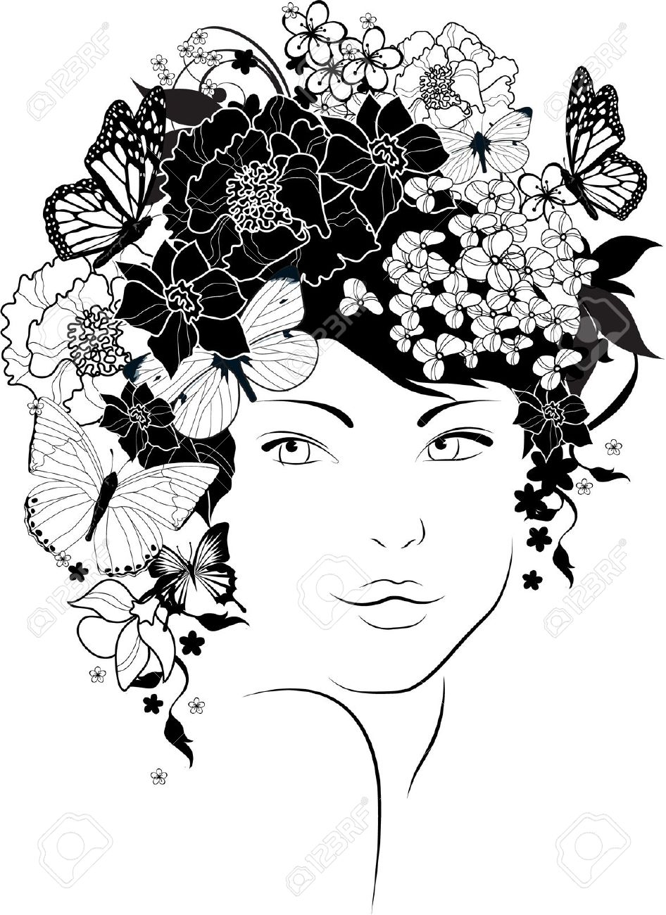 Girl With Flower Drawing