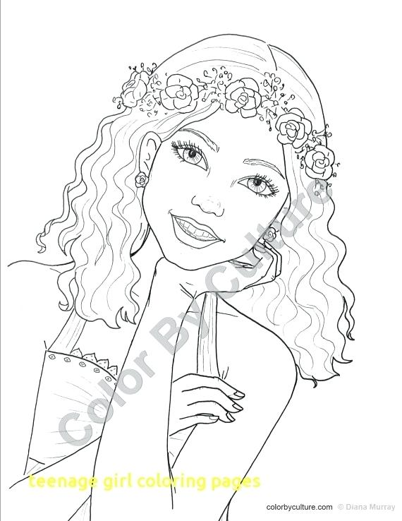 Girl With Flowers In Her Hair Drawing at GetDrawings.com | Free for ...