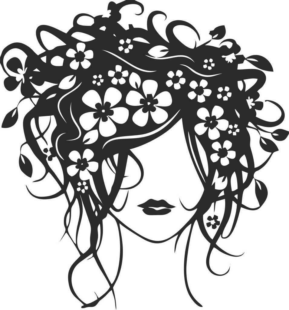 955x1024 Girl With Flowers In Her Hair ( Car