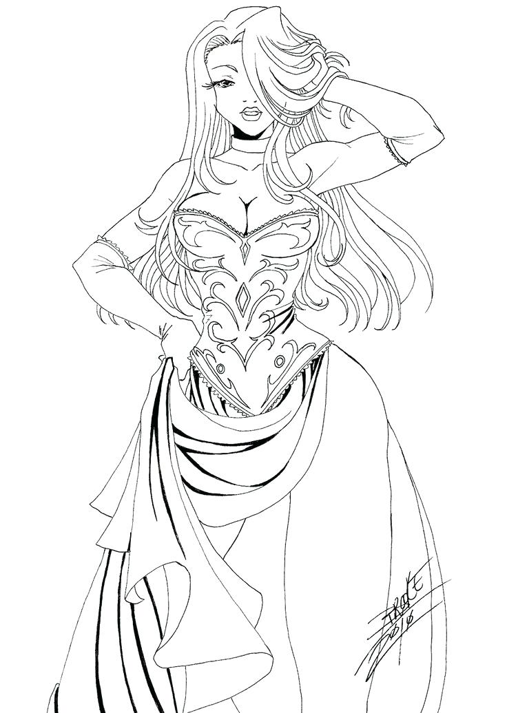 736x1036 Awesome Female Coloring Pages New Hair Beautiful Fashion Women