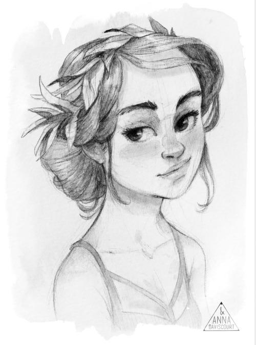 500x675 Hair Bun Drawing Tumblr