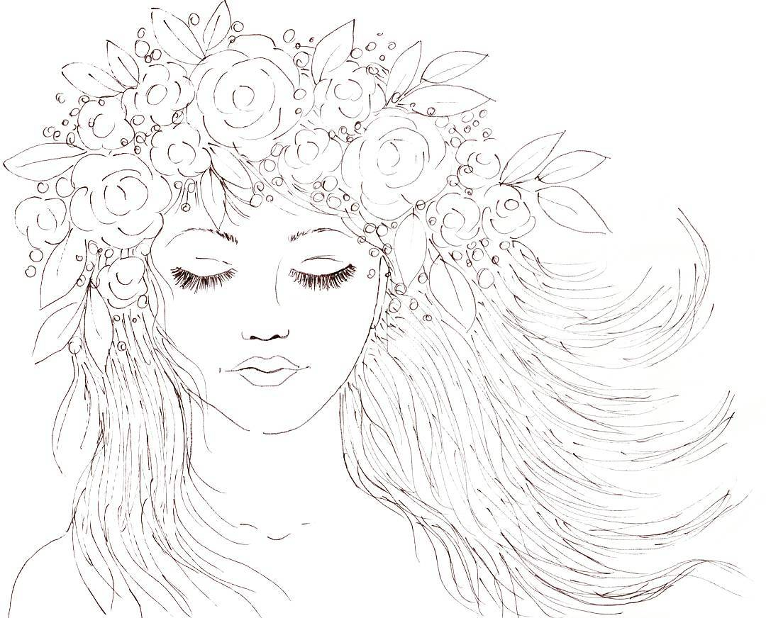 1080x872 Boho Girl With A Crown Of Flowers In Her Hair. Youtube Video